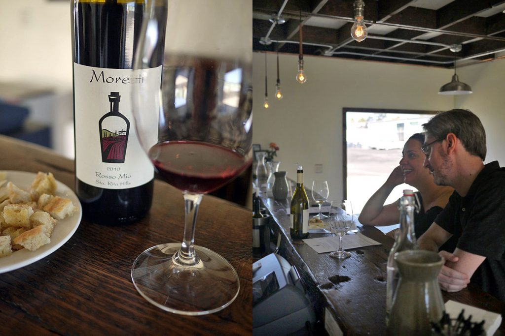 Moretti Wines in Sta Rita Hills, Lompoc, California