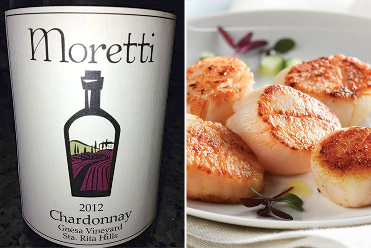Antonio Moretti's Perfect Pair: Moretti Chardonnay & Sea Scallops