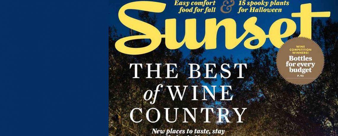 Moretti Wines in Sunset Magazine, Oct 2015
